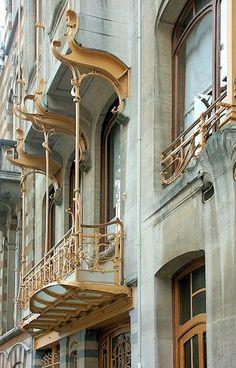 Art Nouveau, Horta House, Brussels - Architect: Victor Horta - Built: 1898-1901 - The former home of Art Nouveau's best-known architect, Victor Horta, is now the Horta Museum