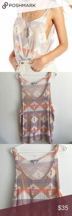 Wildfox Loose Tank Top • Native / Aztec style print. Size large. Excellent used condition. Lightweight tank. Wildfox Tops