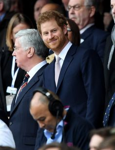 Prince Harry Photos Photos - Prince Harry is seen in the stands during the RBS Six Nations match between England and Scotland at Twickenham Stadium on March 11, 2017 in London, England. - England v Scotland - RBS Six Nations
