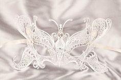 Luxury Filigree Metal Venetian Masquerade Masks - BUTTERFLY