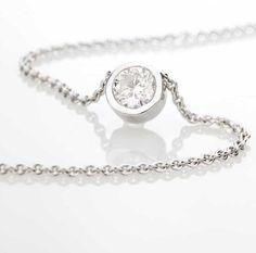 Solitaire Pure Or Blanc et Diamant