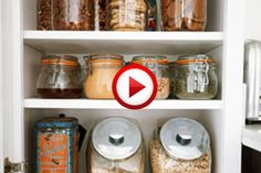 Using Containers To Organize Your Kitchen Video #cooking, #kitchen, #food, #pinsland, #howto, https://apps.facebook.com/yangutu