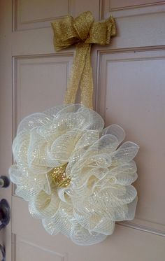 Black Friday Sale 20% Light Gold Wreath by WreathMakersDaughter