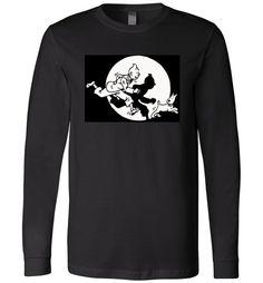 Amazing Tintin Long Sleeve Shirt Check more at https://crazeline.com/product/tintin-long-sleeve-shirt-2/