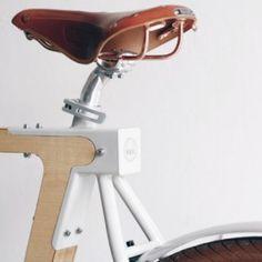 De toffe houten fiets Wood.b: 'Simple, efficient and fun' | Want.nl