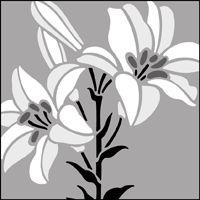 The Lily stencil - price £17.95