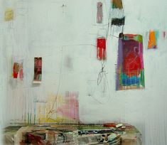 "wall 02-2 by anne-laure djaballah, via Flickr- another shot of her ""work"" cleaning her brushes on her studio walls"