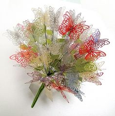 Laser Cut Butterfly Bouquet. Fun spring or anniversary gift.
