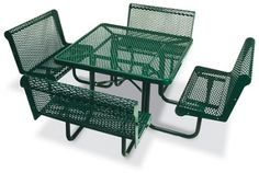 Square Open Diamond Pattern Outdoor Table  | National Business Furniture