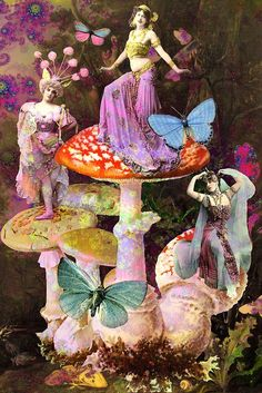 Witching Hour Hand Dipped Charcoal Incense 20 Sticks Home Fragrance Collages, Collage Art, Digital Collage, My Fantasy World, Fantasy Art, Fairy Land, Fairy Tales, Mushroom Art, Purple Love