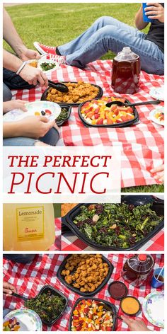 What are the ingredients for a perfect picnic? Food. Friends. Location.