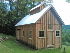 Sugar shack design build this tiny house sugar house for Board and batten shed plans