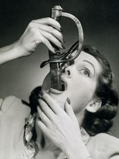 Ask the Doctor: What's the best remedy for a chronic sore throat Chronic Sore Throat, Sword Swallower, Ansel Adams, Vintage Pictures, Macabre, Belle Photo, The Magicians, Old Photos, Art Reference