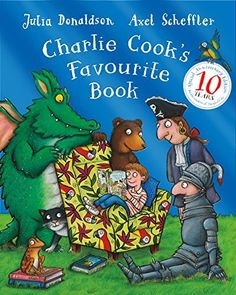 Charlie Cook's Favourite Book is a great story for introducing different kinds of book & stimulating discussions about children's favourite books & comics.