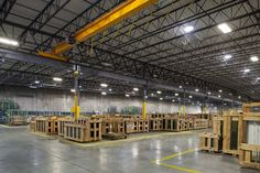 J.E. Berkowitz, LP Architectural Glass Warehouse: Encompassing industrial space with two overhead cranes, four loading docks, an office, and break room, the new addition expands the company's capabilities in the distribution of large insulated glass units. [KCBA Architects]