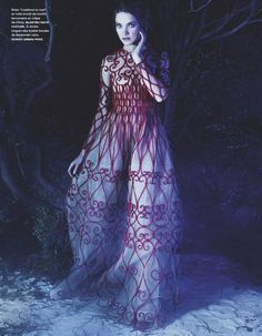 Natalia Vodianova by Karl Lagerfeld for Numéro #141 (March 2013). VALENTINO