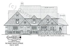 Garrell Associates, Inc.Shady Grove Cottage House Plan # 06093, Front Elevation, Victorian Style House Plans, Elevator House Plans