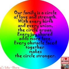 """family circle quote """"I love my kids"""" on fb:  http://on.fb.me/qgngmh"""