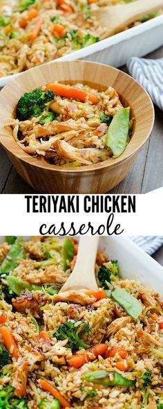 First off, I must say I have to give Carrian from the amazing food blog Oh Sweet Basil top notch credit for this fantastic recipe! If you are looking for an incredible, delicious and healthy meal to feed your family- this is it! This Teriyaki Chicken Casserole is one you�ll love and even the kiddos �