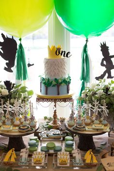 Cristin Kelly Design & Events's Birthday / Where the Wild Things Are - Photo Gallery at Catch My Party Boys First Birthday Party Ideas, Wild One Birthday Party, Baby Boy First Birthday, 1st Boy Birthday, Boy Birthday Parties, Birthday Cakes, 1st Birthdays, Wild Things, Chandelier Cake