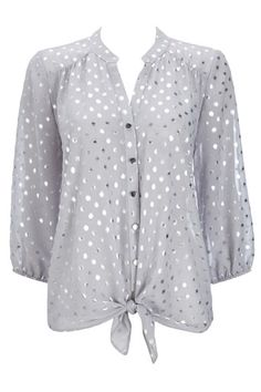 silver dots top
