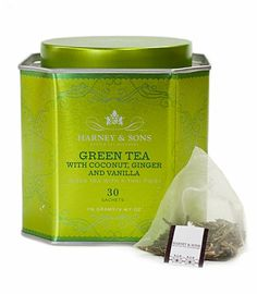 Harney & Sons Green Tea with Coconut, vanilla & Ginger sold at Barnes and Noble