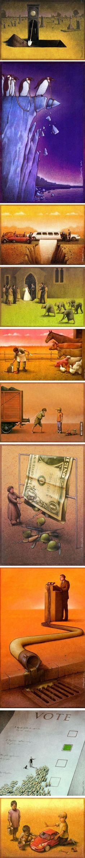 Clever Political Illustrations by Paul Kuczynski