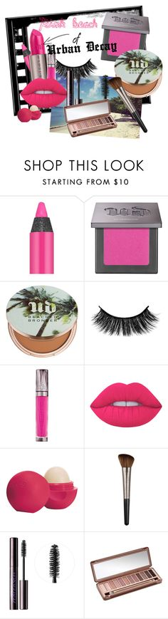 """""""Pink beach of Urban Decay"""" by aneta-sundova on Polyvore featuring beauty, Urban Decay, Lime Crime and Eos"""