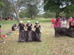 The triple sack race is a hilarious event in the Mini Olympics