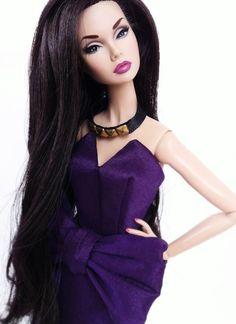 """'Glamorous Darling' Poppy Parker models purple minidress for 12"""" fashion dolls by yukostevens"""