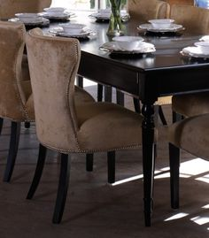 Westbury Dining Table Featuring The Windsor Dining Chairs