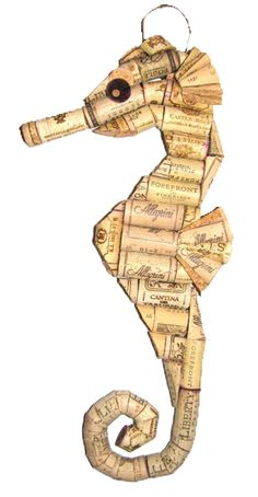 WiNe CoRK SEaHoRSe ___Recycled Wine Cork Animals ___KristinaSeekampSchaaf