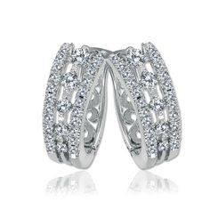 14kt white gold and 1.00 carat of diamonds, Charles W. Couture earrings, by Charles Winston