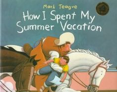 A schoolboy tells his class about his summer vacation, during which he joined a group of cowboys and stopped a cattle stampede. (Grades: Prek-2) Call number: PZ8.3.T2184 Ho 1995