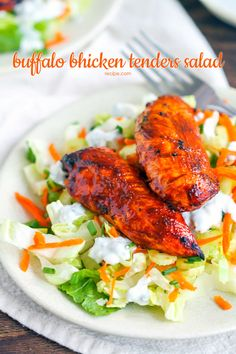 Make this quick and easy buffalo chicken salad for your March Madness party. All the flavor, minus the guilt!