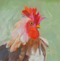 """Daily Paintworks - """"Bruce"""" - Original Fine Art for Sale - © Lynn Rattray"""