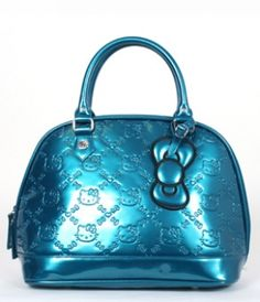 07991bc1a2 HELLO KITTY SMALL TEAL EMBOSSED TOTE BAG by LoungeFly. I want this so bad it