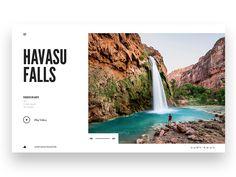 Havasu Falls by Tony DeAngelo #Design Popular #Dribbble #shots