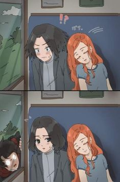 THIS is sooooooooo frickin cute! Pin if you think snape and Lily should have bee. - THIS is sooooooooo frickin cute! Pin if you think snape and Lily should have been together ❤ - Fanart Harry Potter, Harry Potter World, Magia Harry Potter, Arte Do Harry Potter, Harry Potter Artwork, Harry Potter Drawings, Harry Potter Ships, Harry Potter Jokes, Harry Potter Fan Art
