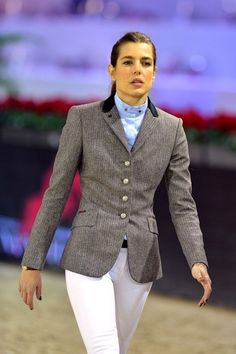 Charlotte Casiraghi - Maybe it's equestrian, maybe it's not - but it's a lovely suit anyway