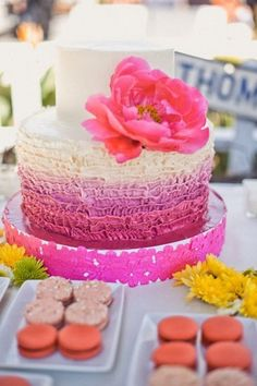 Ombre cakes are one of the hottest trends today, and we are happy to present a bunch of the cutest ones! Ombre cakes look dreamy, romantic, beautiful and are perfect not only for wedidngs but also for bridal and baby showers.