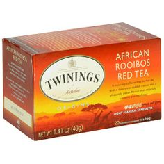 Twinings African Roobios Red Bush Origins Tea 20 Count is naturally caffeine free and has a distinctive reddish color and pleasantly sweet flavor with natural antioxidants. Twinings Tea, Tea Brands, Have A Good Night, My Cup Of Tea, How To Make Tea, Tea Recipes, I Love Food, Afternoon Tea, Tea Party