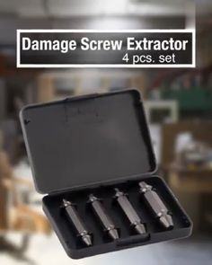 """Damaged screws can be a pain in the butt. Removing damaged or broken screws from wood should be added to the """"A Million Ways to Die in the West"""" list. Have you ever stripped a screw or broken off the head of a bolt? It& quite frustrating, right? Home Tools, Diy Tools, Metal Working Tools, Wood Working, Tools Hardware, Diy Home Repair, Garage Tools, Gadgets And Gizmos, Cool Inventions"""