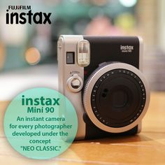 #FujifilmInstax Redefine your photography skills with Instax mini 90. Grab instax mini 90 from our Fujifilm store online. #Photography
