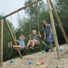 Dubbele Schommel   WoodVision - Kinderschommel Fleur   Tweepersoons – JouwSpeeltuin Park, Parks