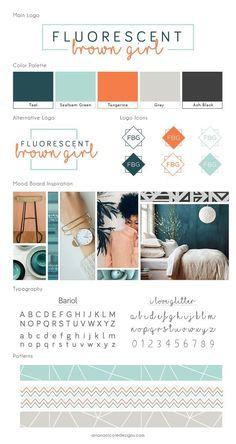 Brown Girl Project The vibrant, chic brand style guide for Fluorescent Brown Girl Site Web Design, Id Design, Graphic Design, Media Design, Cover Design, Brand Guide, Brand Style Guide, Brand Identity Design, Brand Design