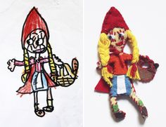 Felt Little Red Riding Hood - mama recicla