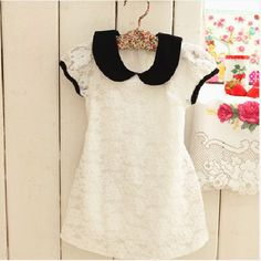 photos of 2014 vintage little girl fashions | clothing female Girls lace princess one-piece dress toddler girl ...