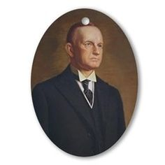 Calvin Coolidge Christmas Ornament
