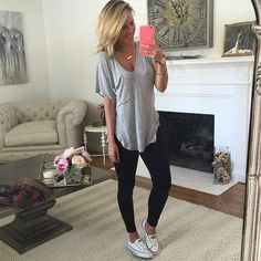 Outfits con Leggins – Moda y Estilo Outfits Leggins, Leggings And Converse, Leggings Outfit Summer, Denim Outfit, Comfy Outfit, Basic Outfits, Winter Outfits, Summer Outfits, Theme Park Outfits